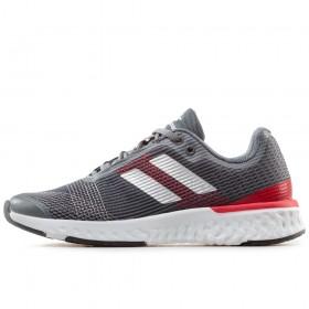 Спортни мъжки обувки - висококачествен текстилен материал - сиви - EO-17881