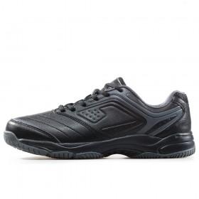 Спортни мъжки обувки - висококачествена еко-кожа - черни - EO-17875