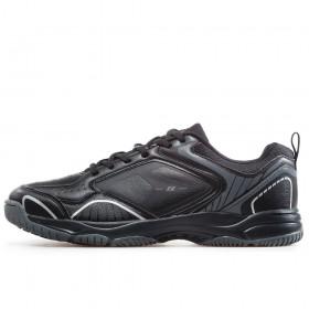 Спортни мъжки обувки - висококачествена еко-кожа - черни - EO-17871