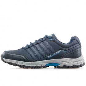 Спортни мъжки обувки - висококачествена еко-кожа - тъмносин - EO-17874