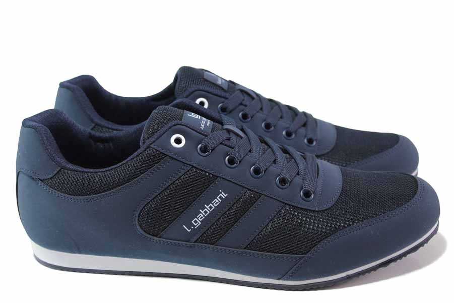 Спортни мъжки обувки - висококачествен текстилен материал - тъмносин - EO-18027