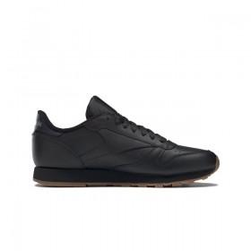 Мъжки маратонки - естествена кожа - черни - EO-17793