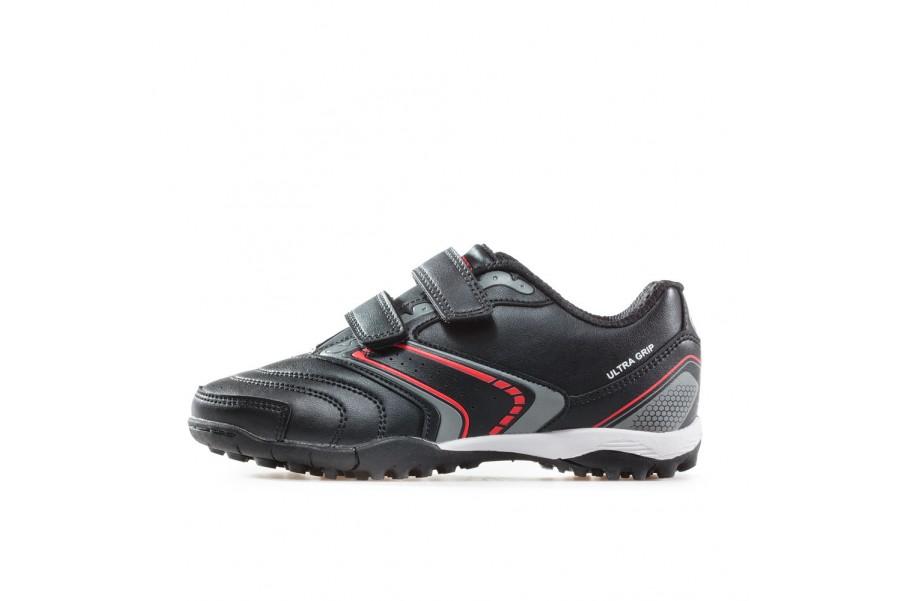 Детски маратонки - висококачествена еко-кожа - черни - EO-17908