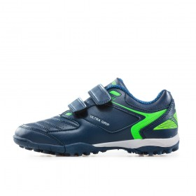 Детски маратонки - висококачествена еко-кожа - тъмносин - EO-17906