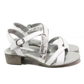 Дамски сандали - естествена кожа - бели - EO-18006
