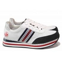 Дамски спортни обувки - висококачествена еко-кожа - бели - EO-18109