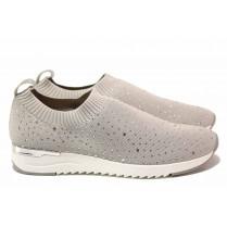 Дамски спортни обувки - висококачествен текстилен материал - сиви - EO-18325