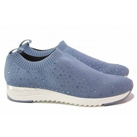 Дамски спортни обувки - висококачествен текстилен материал - сини - EO-18326