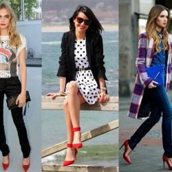 С какво можете да носите червените си обувки?