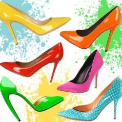 В цветовата матрица на обувките