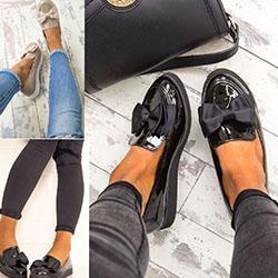 Обувки с кожена външна подметка