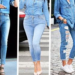 Как стилно да носите дънките на мама?