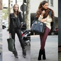 Как да носите кожено яке