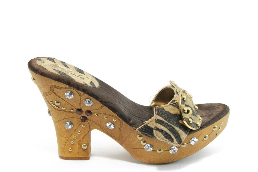 Дамски чехли - висококачествен текстилен материал - бежови - EO-4151