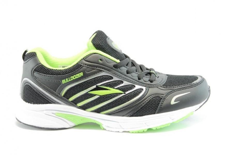Юношески маратонки - еко-кожа с текстил - зелени - EO-1353
