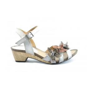 Дамски сандали - естествена кожа - бели - EO-1376