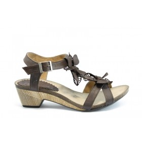 Дамски сандали - естествена кожа - кафяви - EO-1377