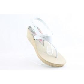 Дамски сандали - висококачествен pvc материал - бели - EO-1226