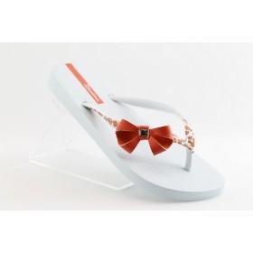 Дамски чехли - висококачествен pvc материал - бели - EO-1271