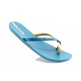 Дамски чехли - висококачествен pvc материал - сини - EO-1275