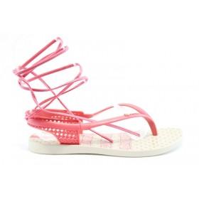 Дамски сандали - висококачествен pvc материал - розови - EO-1305