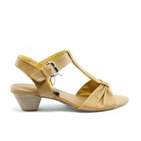 Дамски сандали - естествена кожа - кафяви - EO-1022