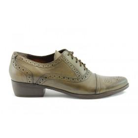 Равни дамски обувки - естествена кожа - кафяви - EO-51