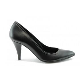 Дамски обувки на висок ток - естествена кожа - кафяви - EO-50