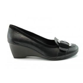 Дамски обувки на платформа - естествена кожа - червени - EO-68