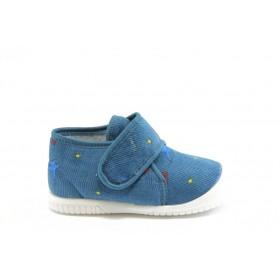 Детски обувки - висококачествен текстилен материал - сини - EO-2827