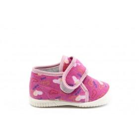 Детски обувки - висококачествен текстилен материал - розови - EO-2825
