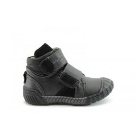 Детски ботуши - висококачествена еко-кожа - черни - EO-1636