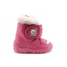 Детски ботуши - висококачествена еко-кожа - розови - EO-1644