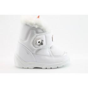 Детски ботуши - висококачествена еко-кожа - бели - EO-1643
