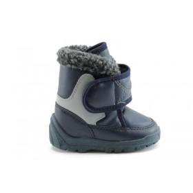 Детски ботуши - висококачествена еко-кожа - сини - EO-1648