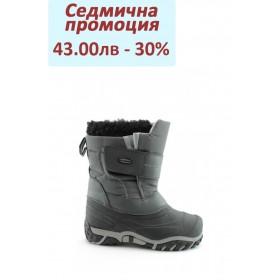 Детски ботуши - висококачествен pvc материал и текстил - черни - EO-1667