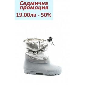 Детски ботуши - висококачествен pvc материал и текстил - сиви - EO-1673