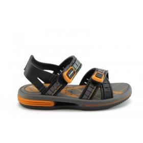 Детски сандали - висококачествен pvc материал - черни - EO-1429