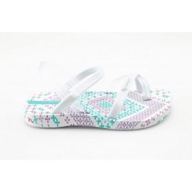 Детски сандали - висококачествен pvc материал - бели - EO-1139