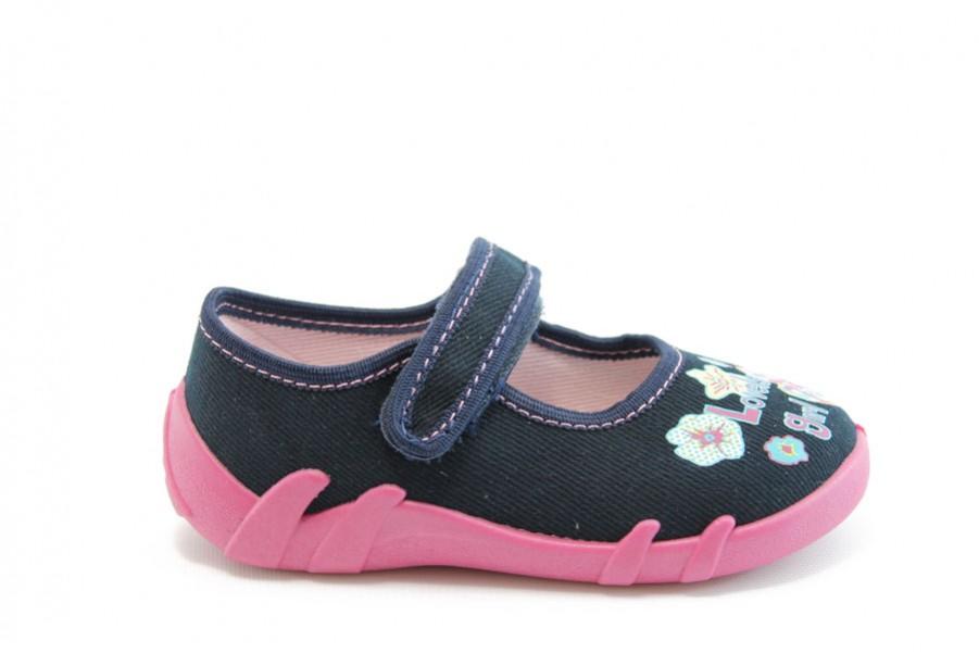 Детски обувки - висококачествен текстилен материал - тъмносин - EO-1916