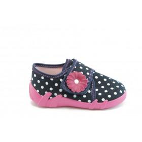 Детски обувки - висококачествен текстилен материал - сини - EO-1918