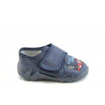 Детски обувки - висококачествен текстилен материал - тъмносин - EO-1919