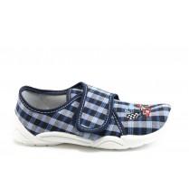 Детски обувки - висококачествен текстилен материал - сини - МА 23-373 синьо каре 26/32