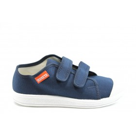 Детски обувки - висококачествен текстилен материал - сини - EO-7793