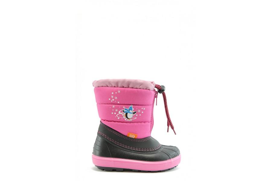 Детски ботуши - висококачествен pvc материал и текстил - розови - EO-2306