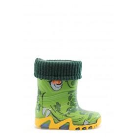 Гумени детски ботуши - висококачествен pvc материал - зелени - EO-9380