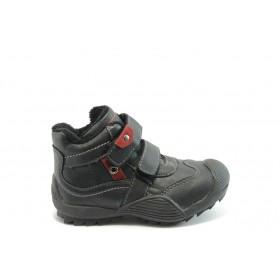 Детски ботуши - висококачествена еко-кожа - черни - EO-3682