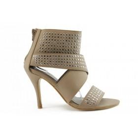 Дамски сандали - еко-кожа - бежови - EO-691