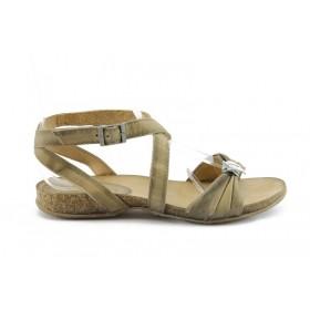 Дамски сандали - естествена кожа - кафяви - EO-710