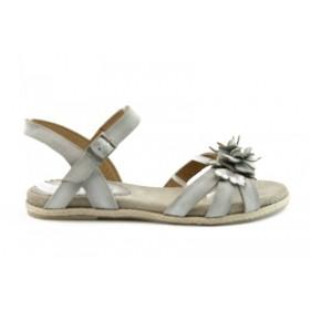 Дамски сандали - естествена кожа - бели - EO-717